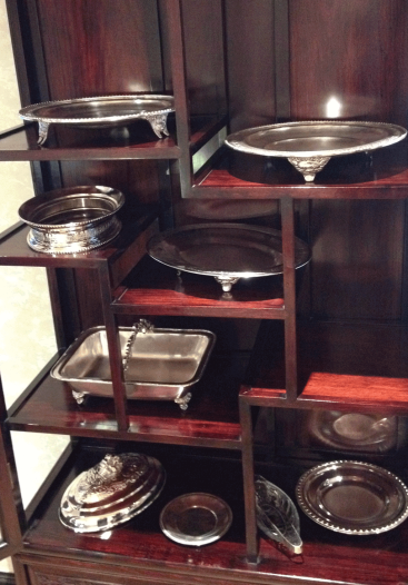 Silver ware of the early days of the People's Grand Hotel Xian.