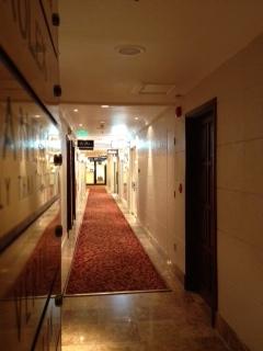 Before: an empty corridor.