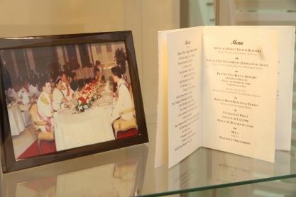A menu of a state gala dinner